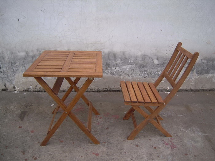 China Outdoor Wood Table Chair Folding A China Outdoor Furniture Garden