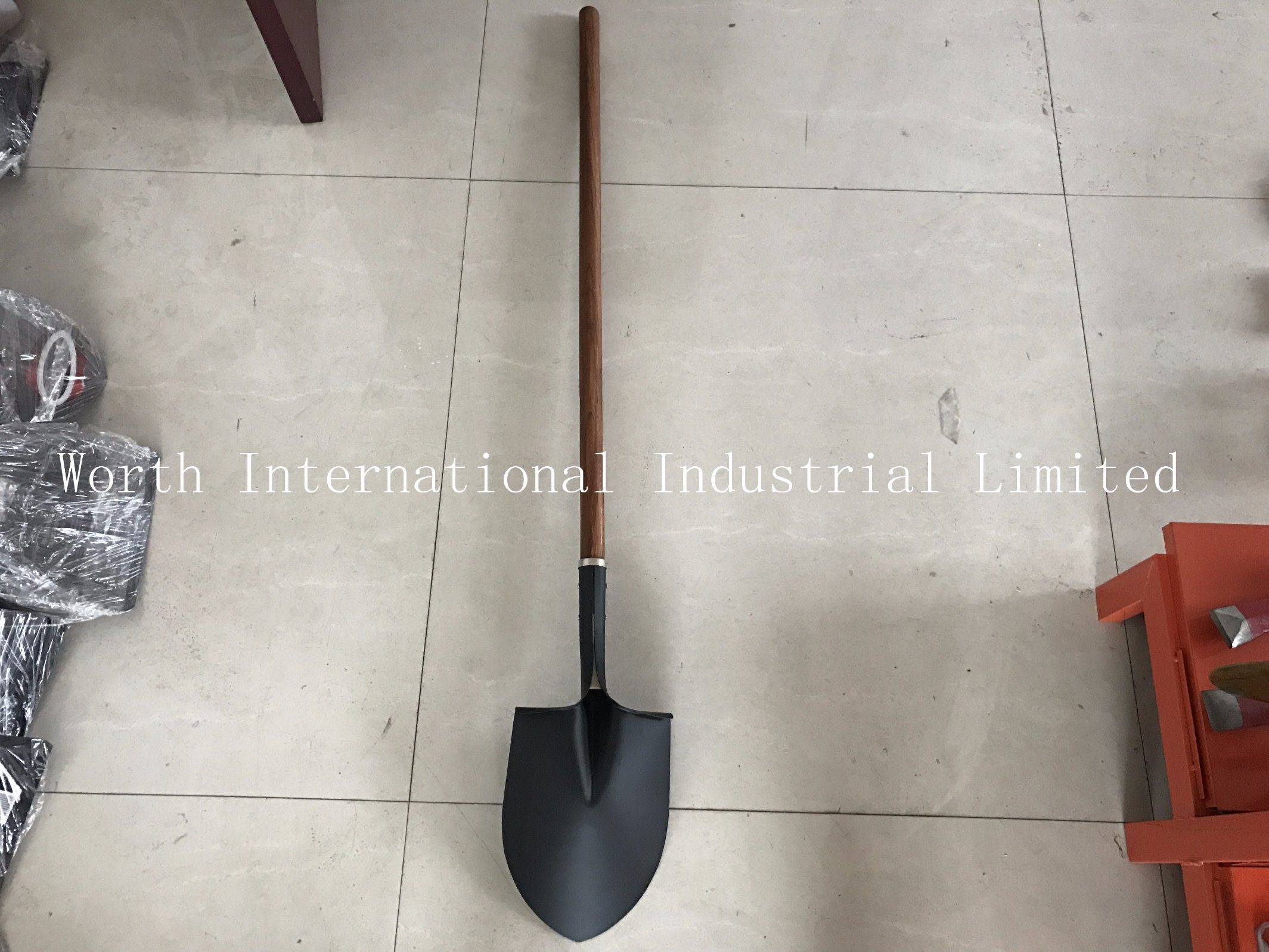 Long Wood Handle Brown Color Handle Shovel