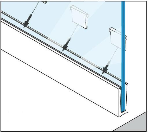 Aluminum Glass Channel (R6.9004.000)