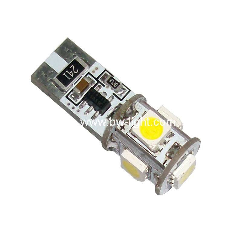 CE, RoHS LED Car Lamp T10 Canbus (T10-PCB-005Z5050P)