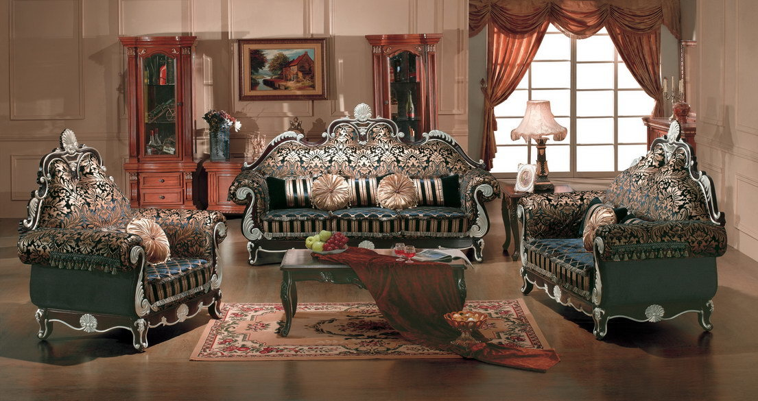 China European Style Furniture 4065 China velet fabric