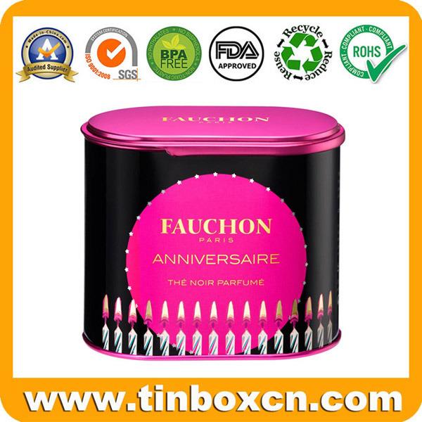 Metal Cosmetic Tin Box for Perfume Fragrance Oil