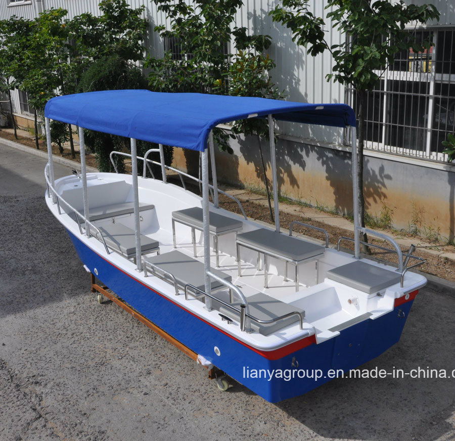 Liya 4.2-7.6meter Boats Fiberglass Fishing Yacht for Sale