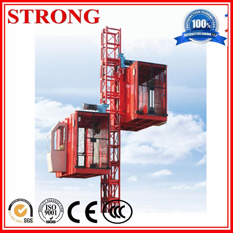 Sc200 Double Cage Building Hoist