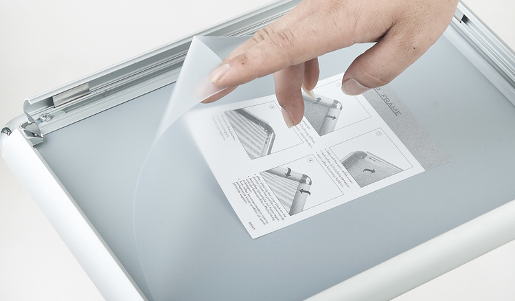 Silver Aluminum Poster Frame Round Corner Snap Frame A3 Size
