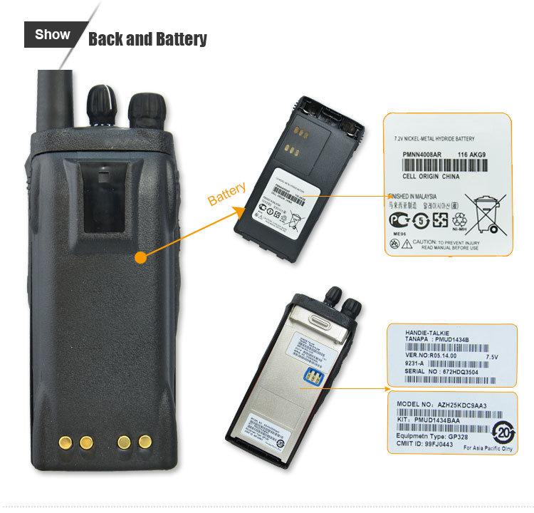 Motor0la Gp328 Gp-328 UHF 450-520MHz Professional Interphone