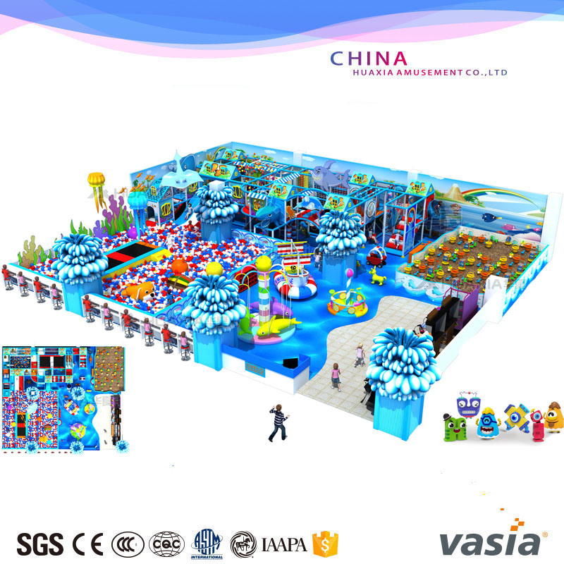 Children Indoor Sea World Themes Playground for Play Center