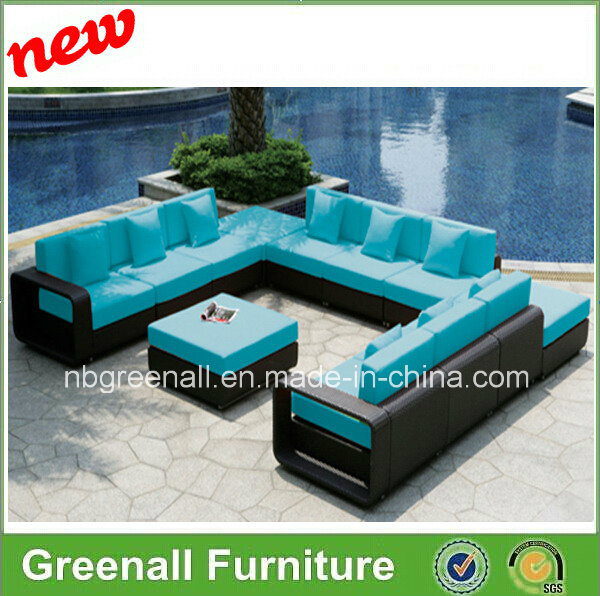 12 PCS New Luxury Large Model Outdoor Rattan Furniture