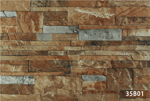 Porcelain Artificial Green Stone Exterior Wall Tile for House (333X500mm)