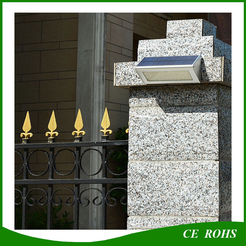 Durable High Quality Aluminum Microwave Radar Motion Sensor 48LED 1000lm Solar Lamp IP65 Outdoor Solar LED Wall Light