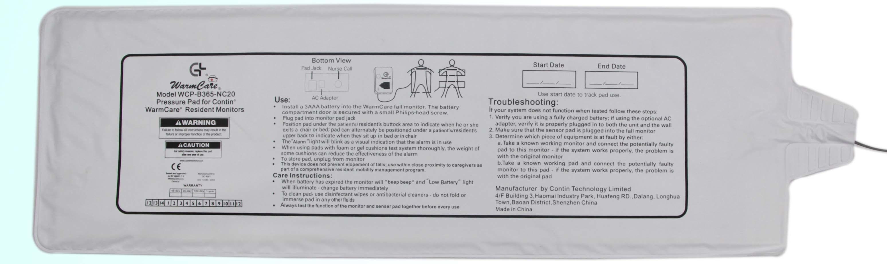 Bed Sensor Pad (HQ-BP-01)