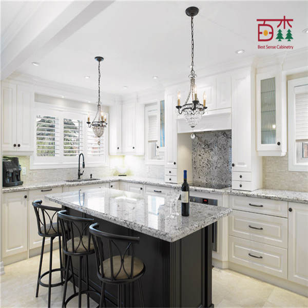 China black and white painted lacquer solid wood wooden for White solid wood kitchen cabinets
