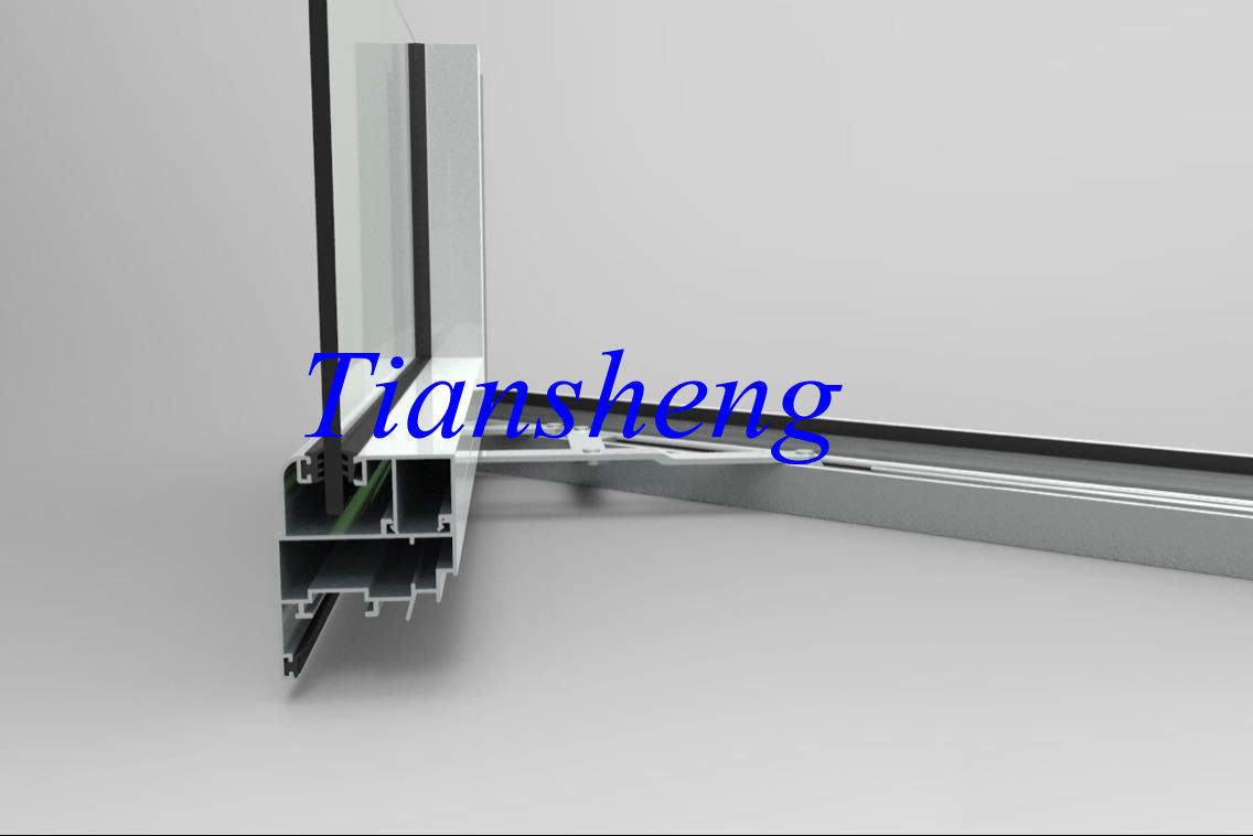 Swing Opening Aluminum Bi-Floding Door with Double Toughened Glass