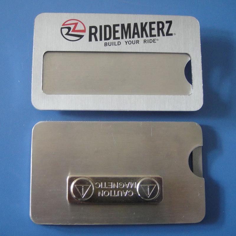 Aluminum Name Badge Printing Logo Name Plate