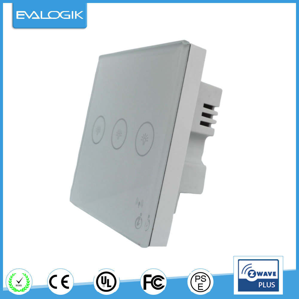 china zwave eva logik wireless smart touch light switch 3 gang china switch panel easy to install