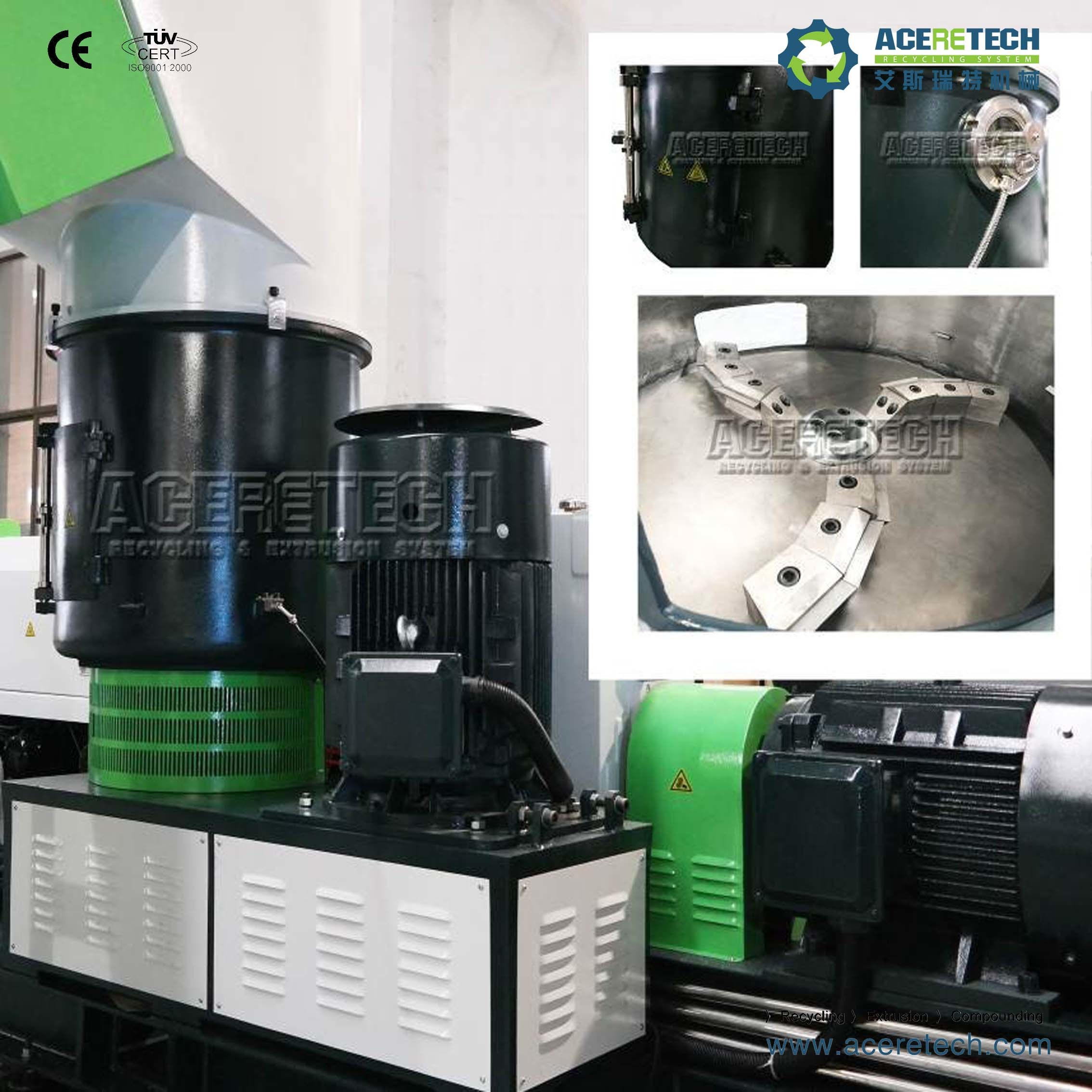 Full Automatic PP PE Plastic Pelletizer Machine