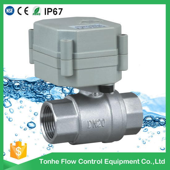 2 Way Motorized Water Ball Valve Approved Ce, RoHS, NSF61