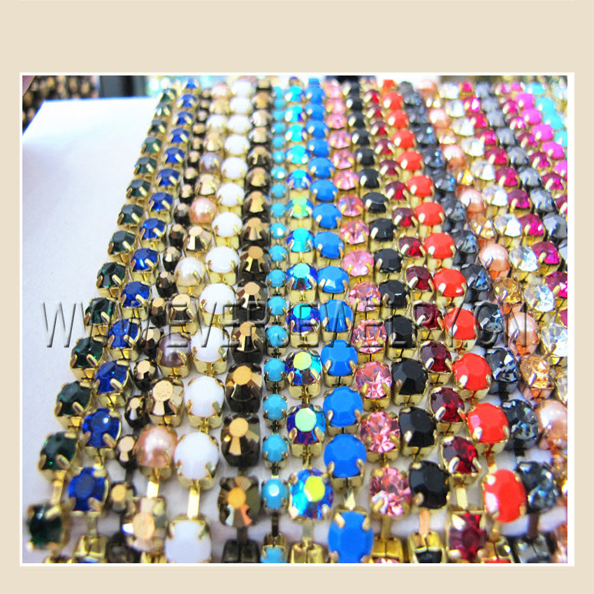 Brass Cup Chain, Rhinestone Trimming, Fashion Trimming