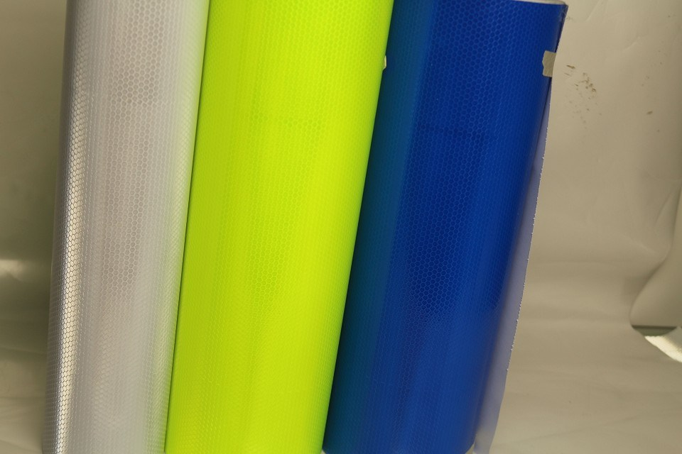 High Visibility Reflective Material Sheet Film for Temporary Road Work Zone Sign