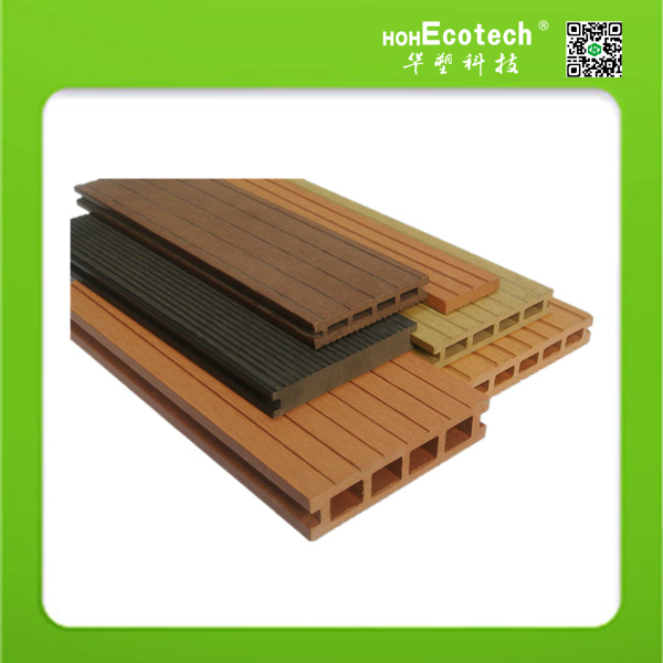 Outdoor Waterproof Wood-Plastic Composite Solid and Hollow Decking Floor