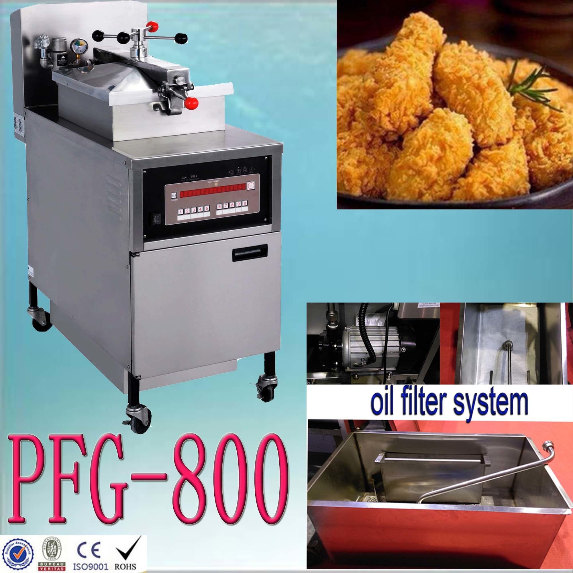 Pfg-800 Gas Pressure Kitchen Equipment Food Machine Chicken Fryer