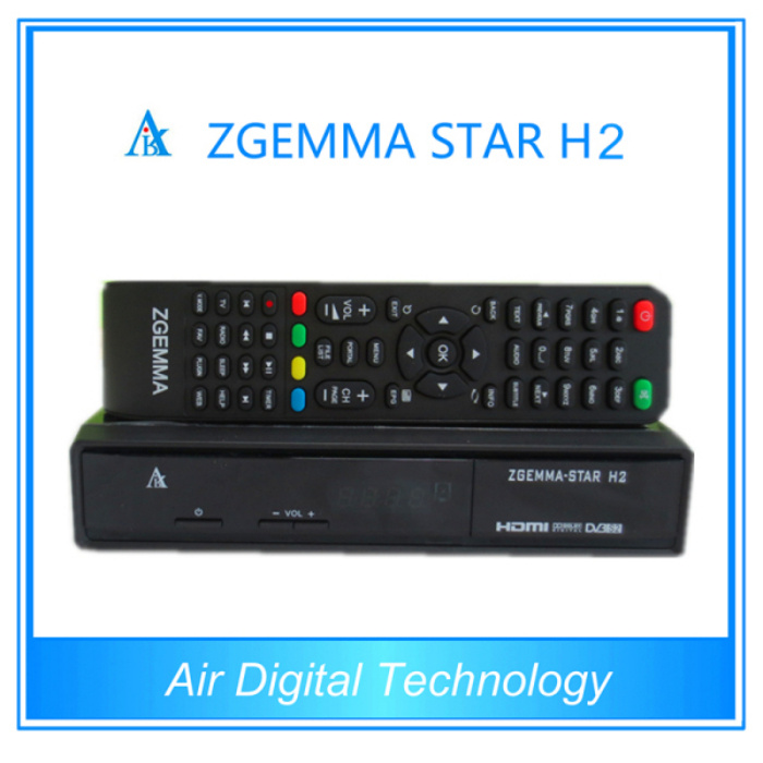 Combo Zgemma-Star H2 DVB-S2 DVB-T2 Satellite Receiver Set Top Box