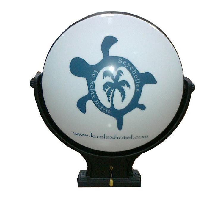 Customized Outdoor Vacuum Acrylic LED Illuminated Rotating Light Box Sign
