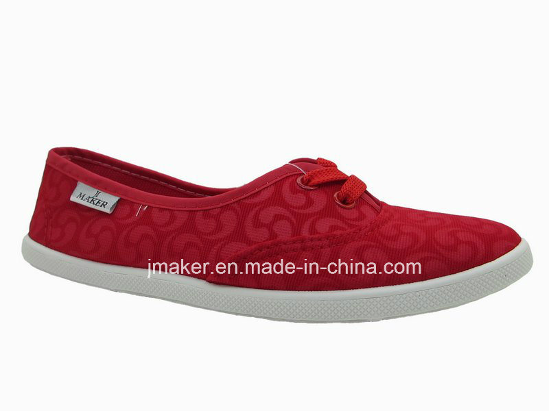 Comfortable Woman Shoe with Canvas Upper (J2510-L)