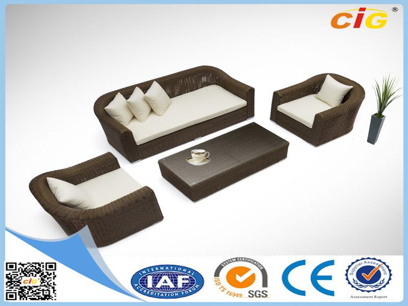 4 Piece Outdoor Quality Wicker Corner Sofa