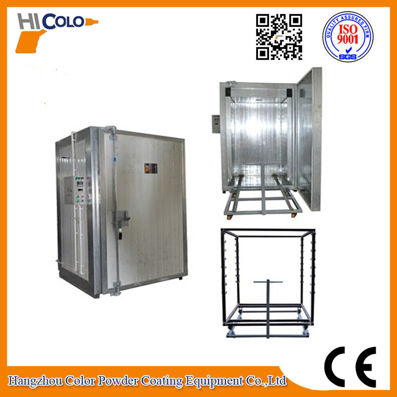 9 Kw Manual Powder Coating Oven with Trolley
