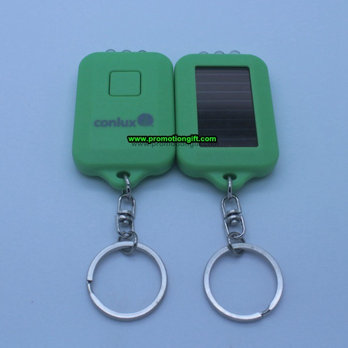 Mini Solar Power LED Keychain Flashlight