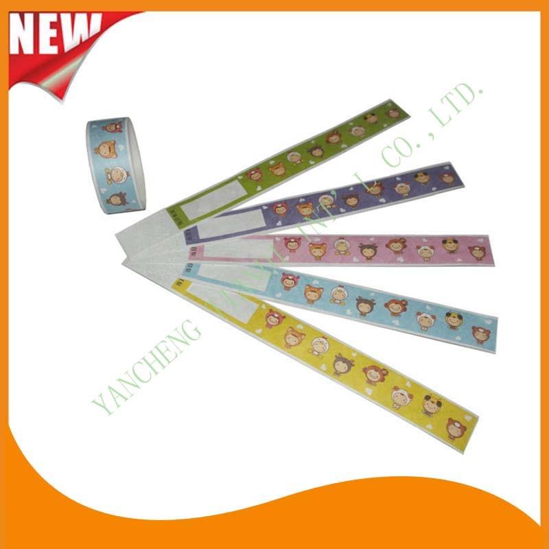 Entertainment Tyvek Customed Cheap Party VIP Paper Wristbands Bracelet (E3000-1-5)