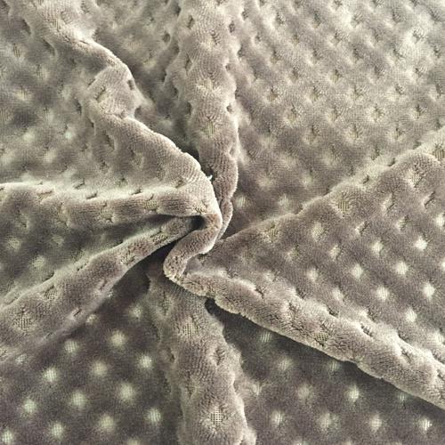 100% Polyester Diamomd 2 Jacquard Flannel Fleece