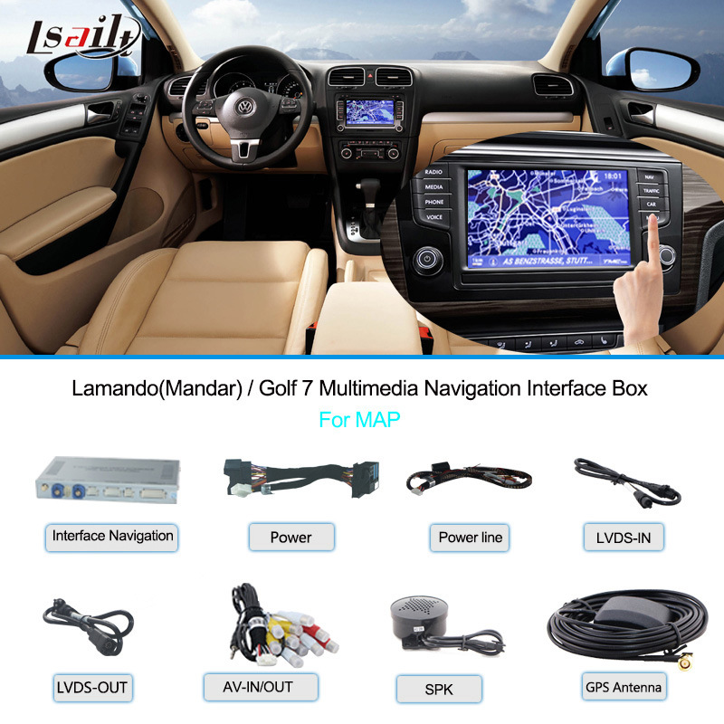 VW Car Multimedia Navigation Interface Box for Golf 7/ Lamandotouch Navigation, USB, HD Video, Audio