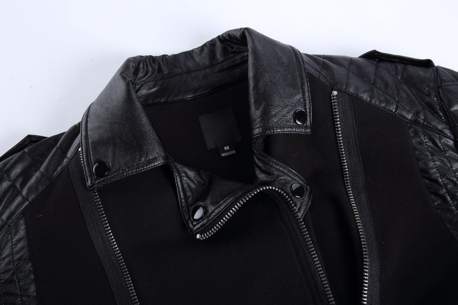 Contrast Color Mens Cotton Terry Jacket with Zipper Placket