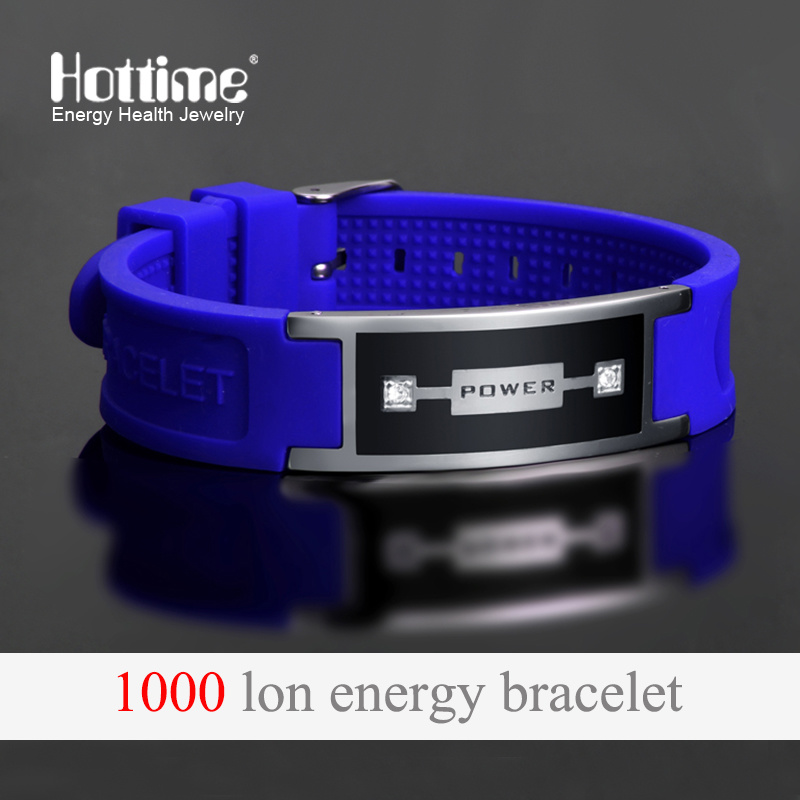 Popular Silicone Wristband for Unisex with Negative Ion Rubber Band