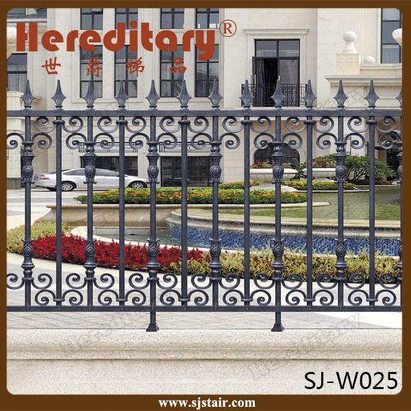 Rome Style Security Aluminum Outdor Cast Aluminum Metal Fence for Garden