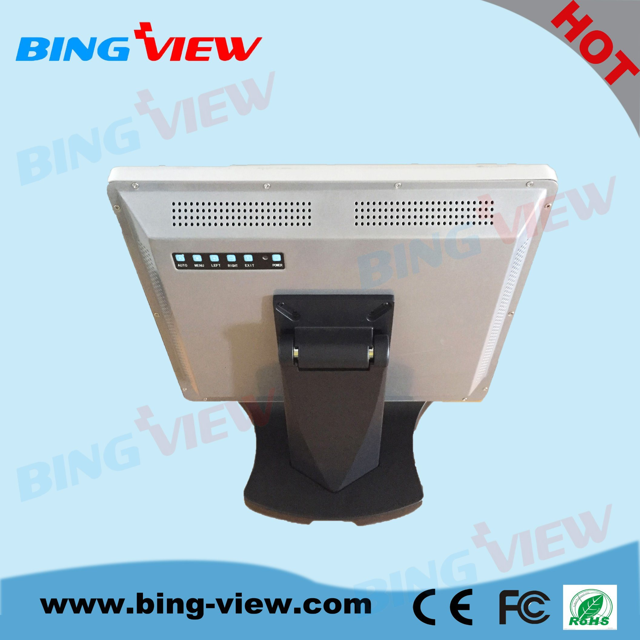 """19"""" True Flat Design Commercial Point of Sales Touch Monitor Screen"""