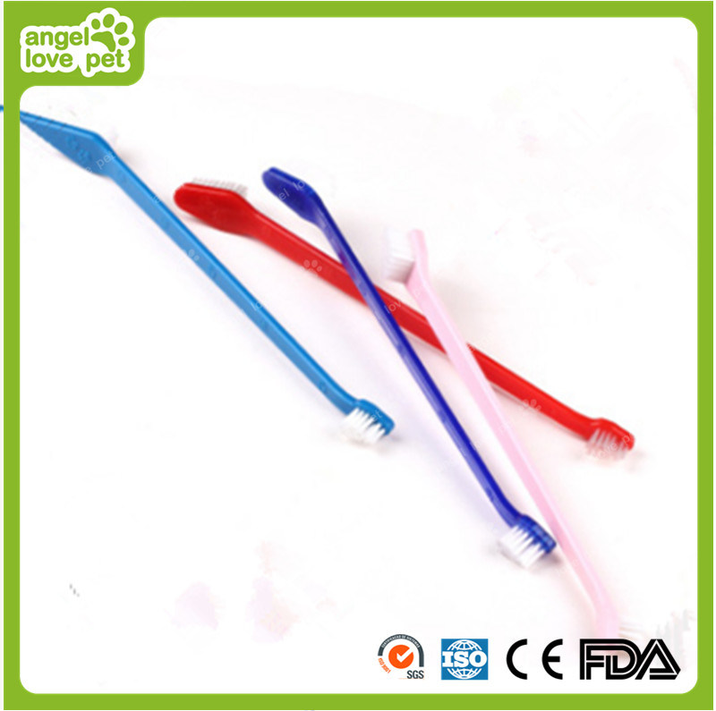High Quality Plastic Toothbrush Double Brush Pet Product