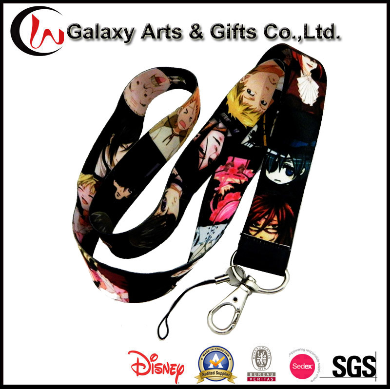Custom Pokemon Promotion Personalized Sublimation Printed Polyester Minions Lanyard