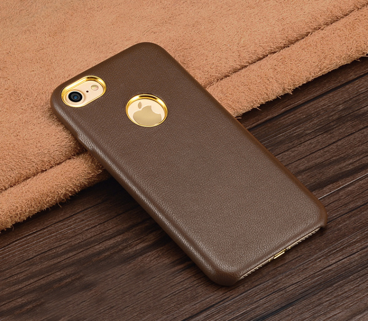 Leather Black Mobile Phone Case for iPhone 7/7plus