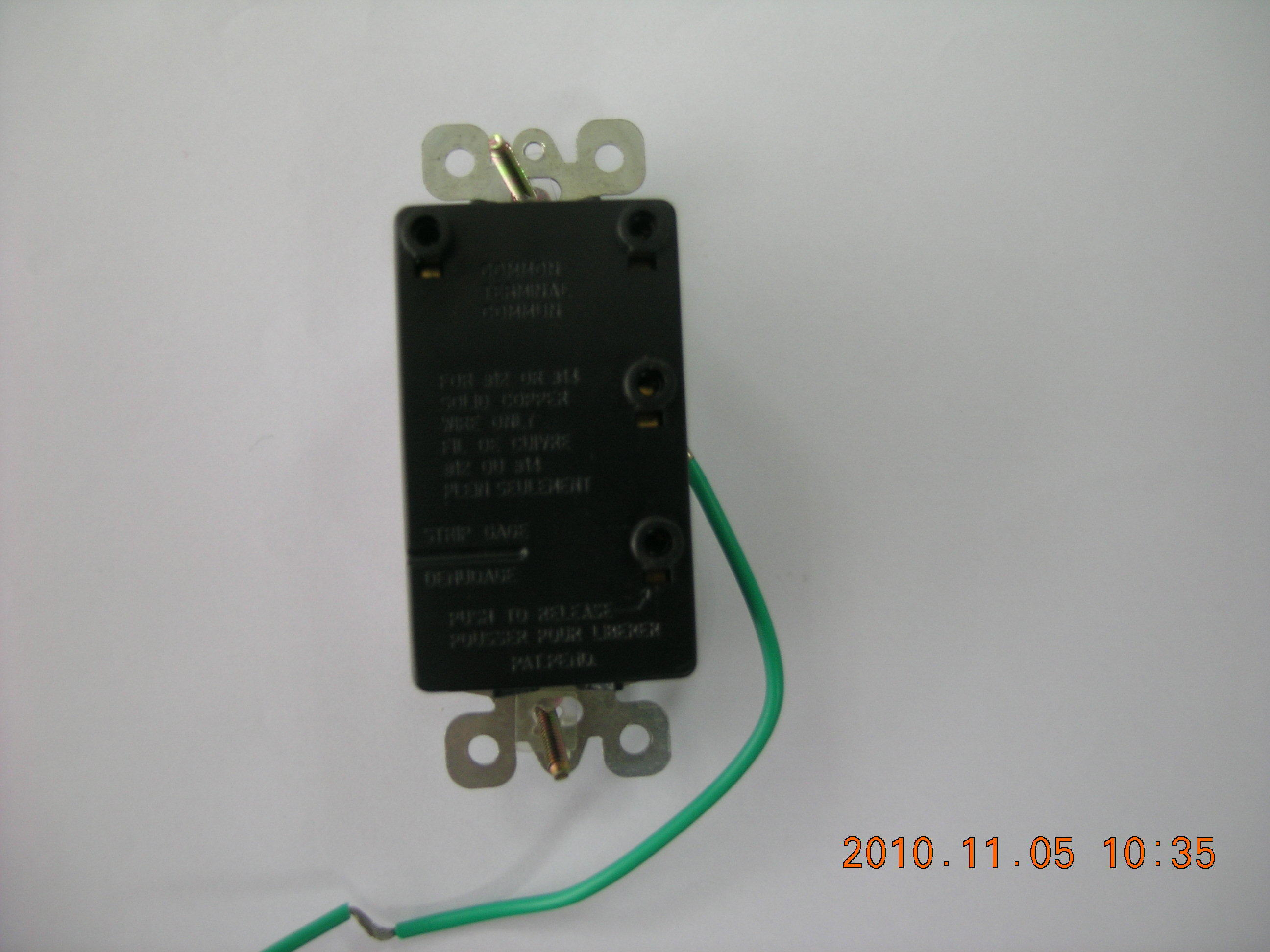15 AMP, 120/277 Volt, Decora Two Single-Pole AC Combination Switch, Commercial Grade, UL Listing