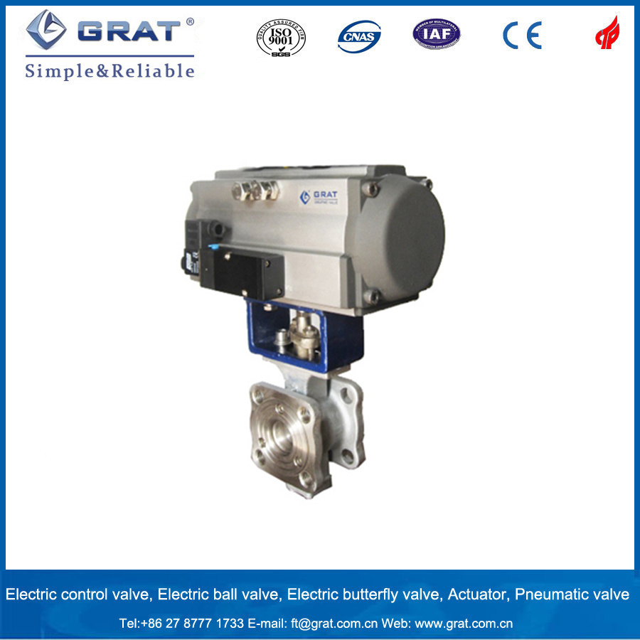 Flow Regulating Pneumatic Stainless Steel Ball Valve