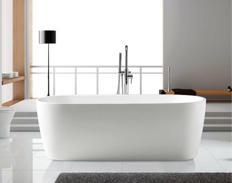 Simple Freestanding Acrylic Bathtub K1594