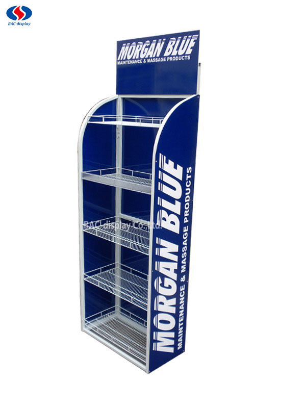 Customized Logo Metal Floor Shelf Stand Tools Exhibition Display Rack