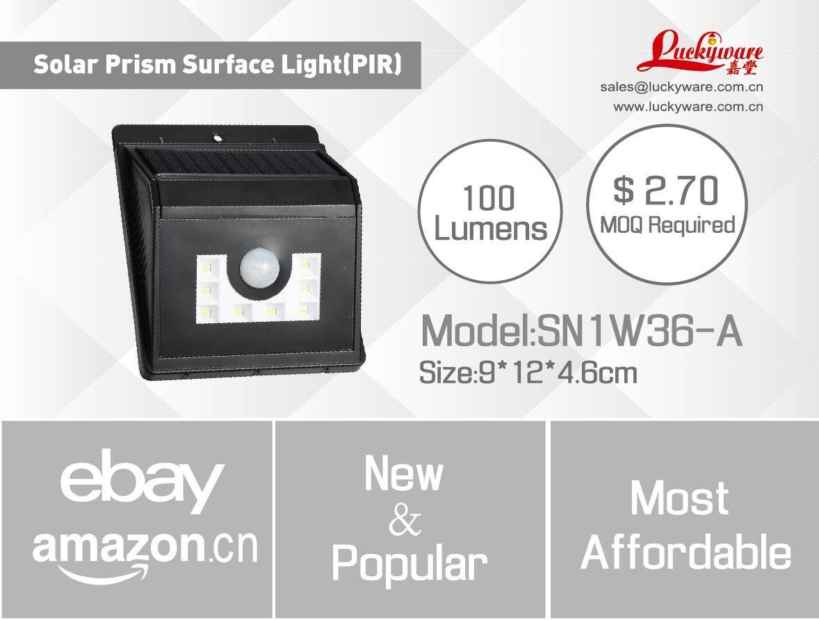 Solar Prism Surface PIR Wall Light