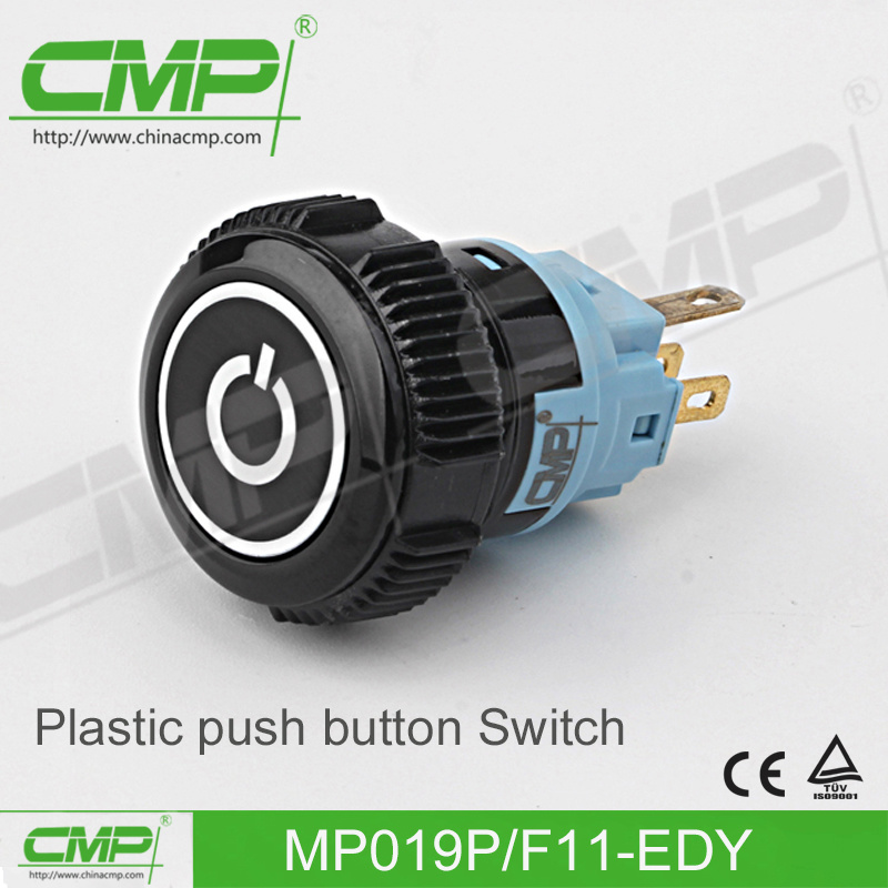 19mm Plastic Waterproof Push Button Switch