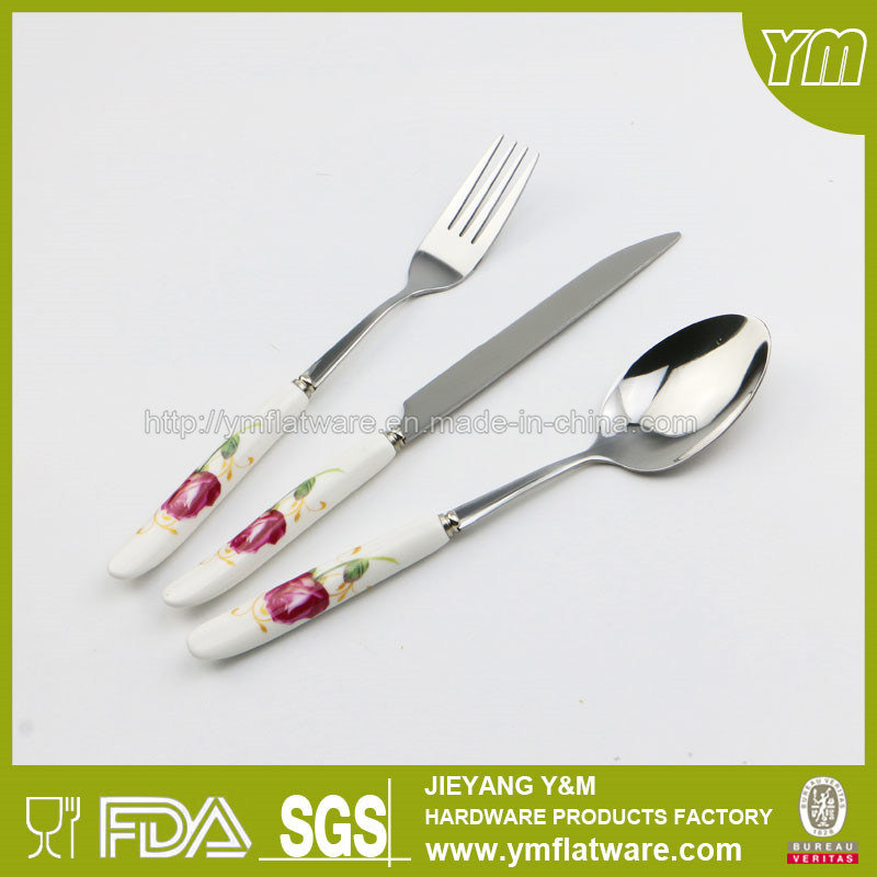 Ceramic Handle Stainless Steel Cutlery