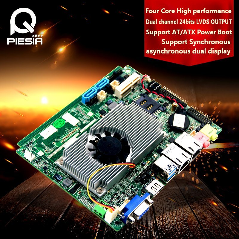 Fanless Industrial Embedded Baytrail J1900 Quad Core Motherboard