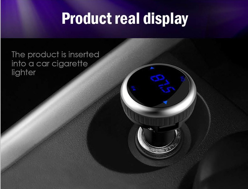 Bluetooth Car Kit MP3 Player Hands-Free Call Wireless FM Transmitter LCD Display USB Charger